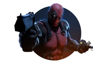 Deadpool With Gun 4k