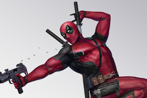 Deadpool With Gun Art