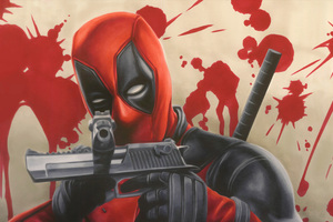 Deadpool With Guns 4k