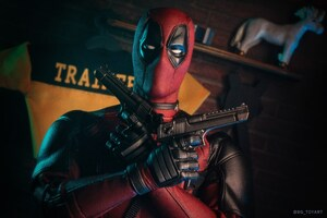 Deadpool With Guns 5k Wallpaper