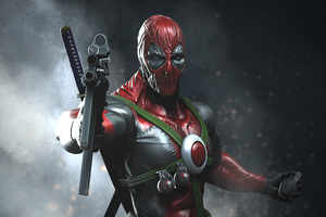 Deadpool With Guns Digital Art
