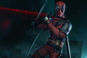 Deadpool With Swords Wallpaper