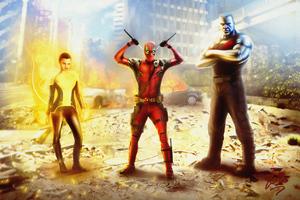 Deadpool X Force 4k