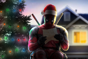 Deadpool XMAS Art Wallpaper