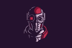 Deadshot Face Minimal 4k Wallpaper