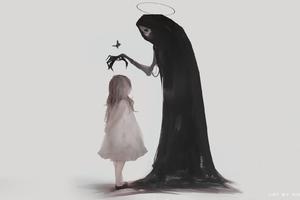 Death And Children Digital Art Wallpaper