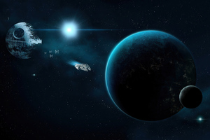 Death Star Planet Star Wars Wallpaper