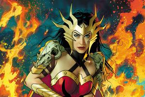 Deathmetal Wonder Woman Cover 4k Wallpaper