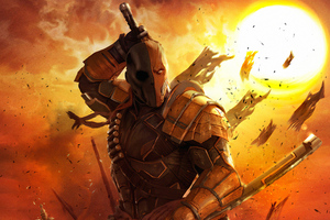 Deathstroke 4kartwork Wallpaper