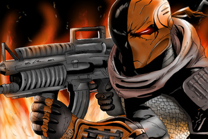 Deathstroke 5k Artwork Wallpaper