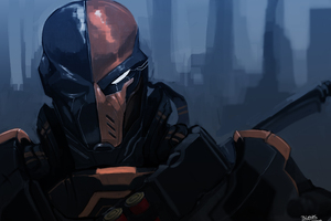 Deathstroke Art 4k Wallpaper