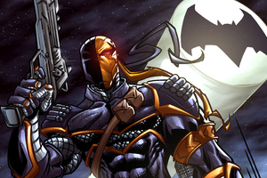 Deathstroke Comic Art 4k