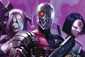 Deathstroke Harley Quinn Katana