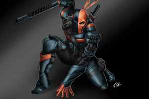 Deathstroke Illustration Wallpaper