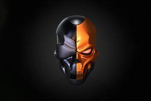 Deathstroke Skull Helmet 5k Wallpaper