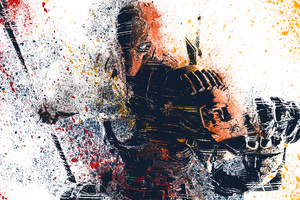 Deathstroke Splat Colours Artwork Wallpaper