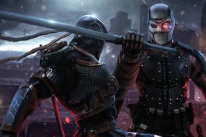 Deathstroke Vs Deadshot Fight 4k Wallpaper