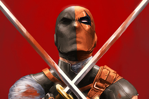 Deathstroke With Two Swords