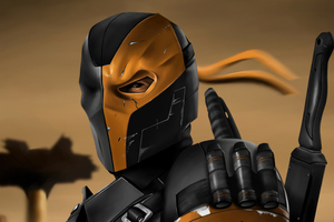 Deathstroke Zack Snyders Justice League 2021 Wallpaper
