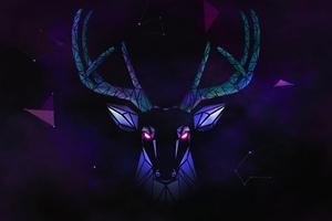 Deer Digital Art 4k