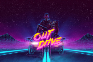 DeLorean 1980 Outrun Artwork