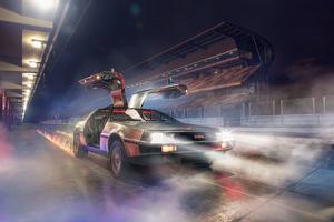DeLorean DMC 12 Open Doors Wallpaper