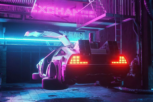 Delorean From Future 4k