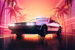 Delorean Hot Pursuite Wallpaper