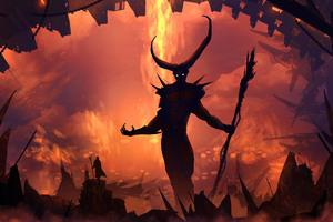 Demon 5k Wallpaper
