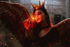 Demon Girl Burning The Fire