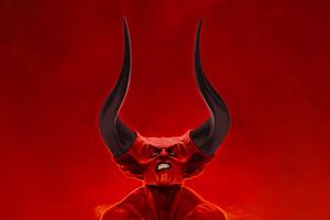 Demon Horns 5k Wallpaper