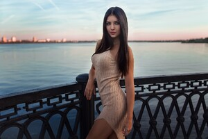 Depth Of Field Girl Model Dress Outdoor