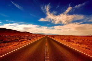 Desert Alone Road Wallpaper