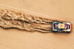 Desert Car Rallying Sand