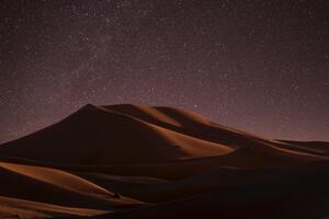 Desert During Night Time 5k