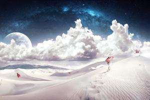 Desert Fantasy Art Wallpaper