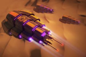 Desert Fleet Scifi 4k