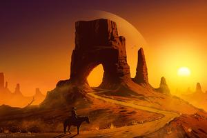 Desert Gate 4k Wallpaper