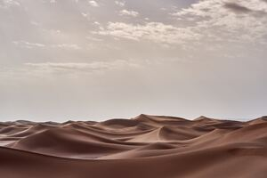 Desert Landscape Morning 4k