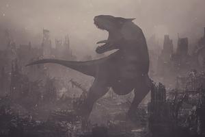Destruction Dinosaur Wallpaper