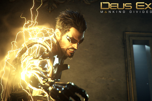 Deus Ex Mankind Divided Game Poster Wallpaper