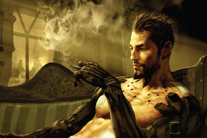 Deus Ex Manking Divided Smoking And Chill 5k Wallpaper
