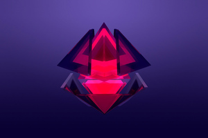 Diamond Abstract Facet 4k Wallpaper