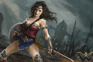 Diana Prince Wonder Woman Art