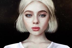 Digital Art Blonde Women