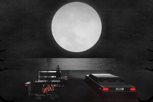 Digital Art Car Moon Wallpaper
