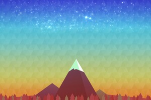 Digital Art Mountains