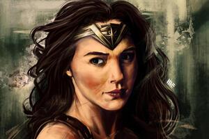 Digital Artwork Of Wonder Woman