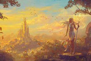 Digital Fantasy Clouds Wallpaper