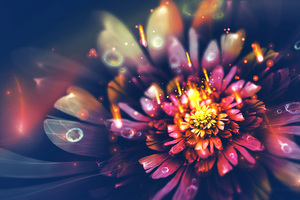 Digital Flower Fractal Arts 4k Wallpaper